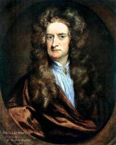 # Sir Issac Newton. Discovered laws of gravity and motion. Made investigations into a whole range of subjects maths, optics, physics, and astronomy
